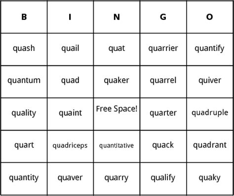 3 Letter Word That Starts With Qu