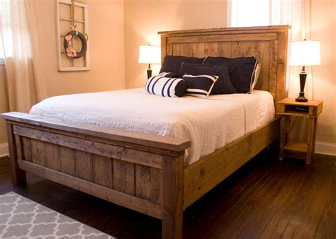 farmhouse bed frame farmhouse bed rustic furniture wooden bed please contact