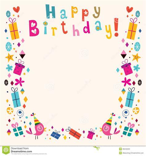 Birthday Card Frames Free Happy Birthday Frame Clipart Png Clipartsgram Com