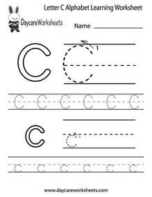 free printable letter c alphabet learning worksheet for