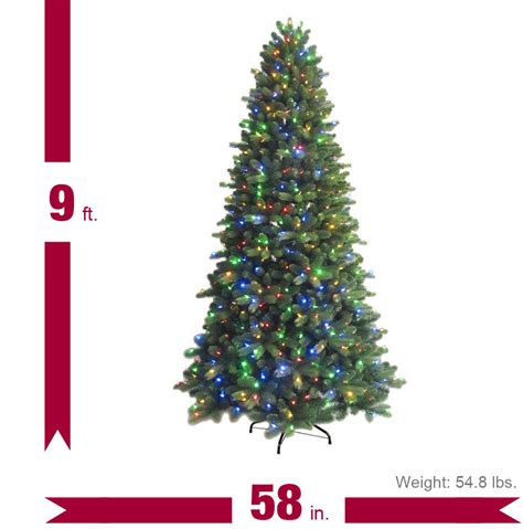 9 ft just cut colorado spruce ez light artificial