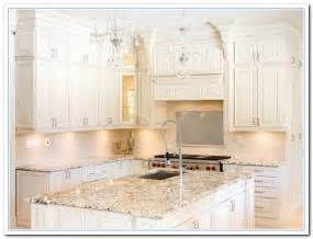 Countertops For White Kitchen Cabinets White Cabinets With Granite Countertops Home And Cabinet Reviews