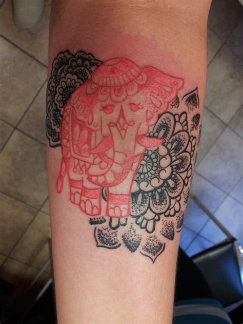pink elephant tattoo newest