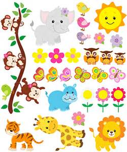 Animal Wall Stickers kit children s wall stickers jungle animals