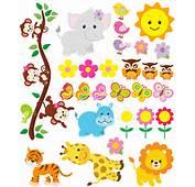 Kit Childrens Wall Stickers Jungle Animals