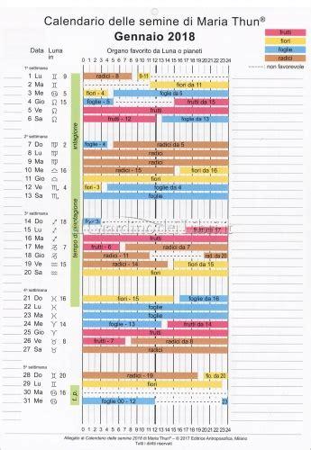 calendario semina fiori calendario delle semine 2018 di thun