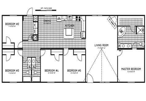 5 bedroom double wide 5 bedroom double wide trailers floor plans mobile homes