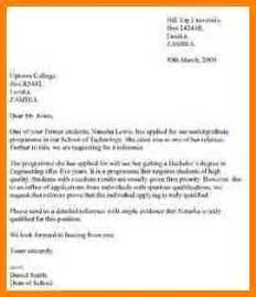 Draft Recommendation Letter For 4 Writing Reference Letter For Student Sle Of Invoice