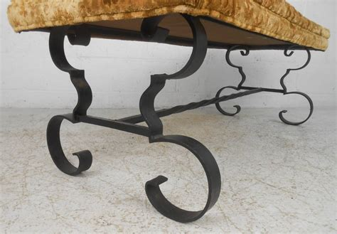 wrought iron bench for sale wrought iron upholstered bench for sale at 1stdibs