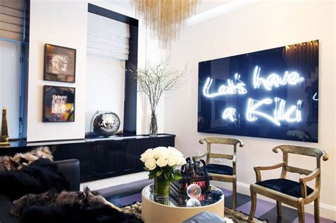 neon sign home decor let s have a kiki neon sign in a chelsea apartment