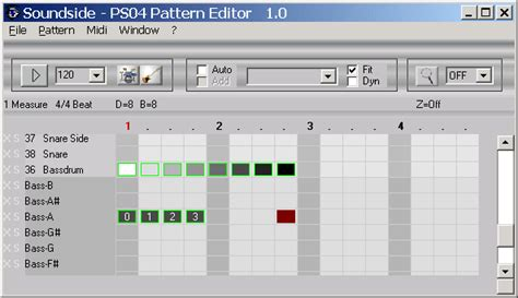 drum pattern editor soundside toolkits for the zoom ps04 recorder