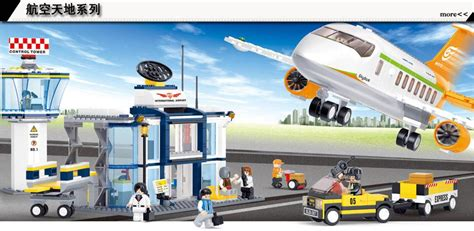 2016 New Free Shipping Sluban - image gallery new lego airport