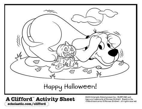 clifford coloring pages halloween teacher printables