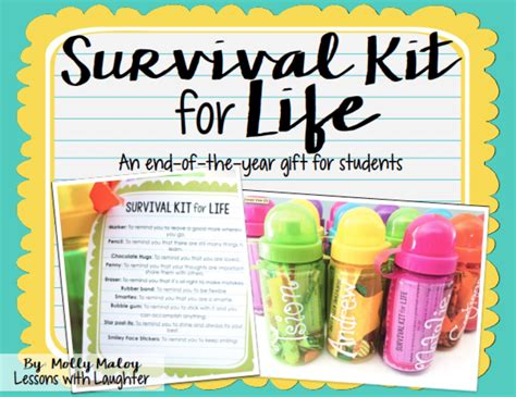 fun gifts for students during student teaching survival kit for an end of the year gift for students lessons with laughter