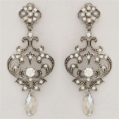 Antique Chandelier Earrings Antique Chandelier Earrings Couture Antique Chandelier Earrings Bridal Hair Accessories