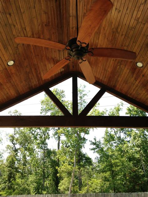 Wood Patio Covered Patio A Frame Stained Cedar Beams Wood Stained