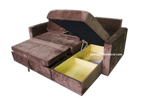 chocolate sectional sofa bed with storage chaise