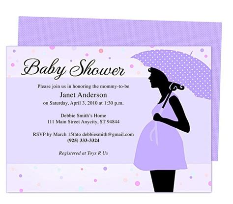 baby shower templates for mac cute maternity baby shower invitation template edit
