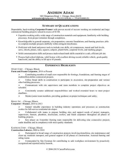 construction resume template 7 best resume vernon images on sle resume