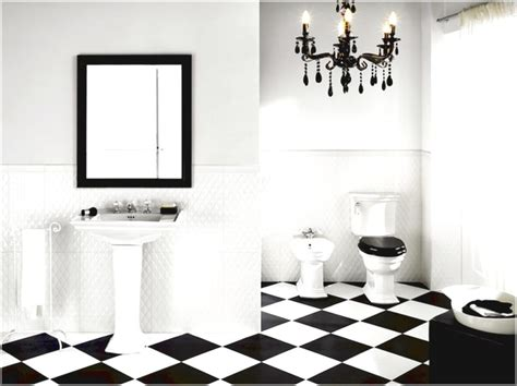 White And Black Tiles For Bathroom black and white tile bathroom design ideas furniture