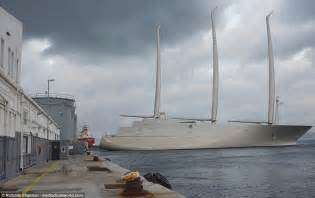 sailing boat with 3 masts russian billionaire s mammoth 163 360m sailing yacht a
