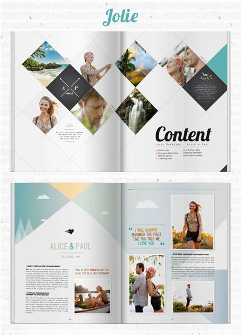 pinterest publication layout create your own wedding magazine with twenty pages
