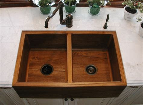 American Made Kitchen Faucets by Teak Double Kitchen Sink Artisan Crafted Home
