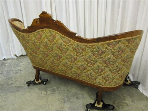 victorian style sofas for sale antique walnut victorian style button tuft sofa chaise for