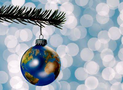 ecological christmas ra globe turns green ra globe