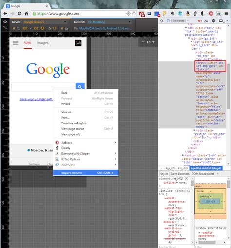 inspect element android robotframework appium can i automate a webpage on chrome for android browser stack overflow