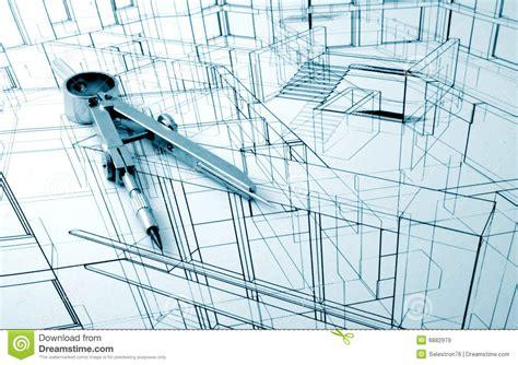 Architecture draw stock image. Image of interior, illustration 6882979