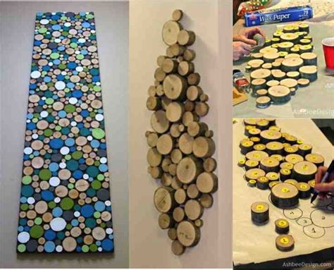 how to make wood slice wall do it yourself ideas