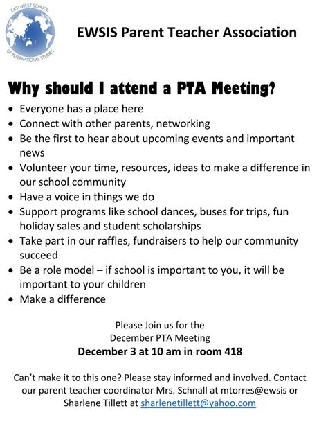 Invitation Letter To Parents For Pta Meeting News And Meeting Announcements East West School Of International Studies