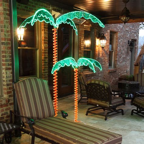 7ft led lighted palm tree mediterranean outdoor rope