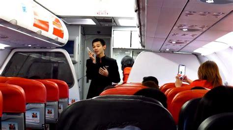 airasia cgk dps airasia singing flight attendant youtube