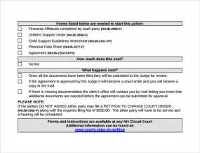 Child Support Template by Child Support Agreement 9 Free Documents In Pdf