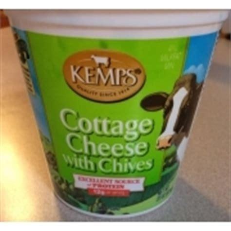 kemps cottage cheese kemps cottage cheese with chives calories nutrition