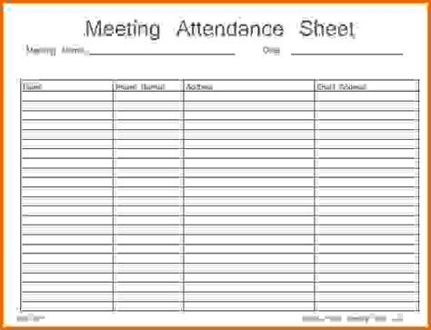 meeting attendance list template 8 attendance sheet pdfreference letters words reference