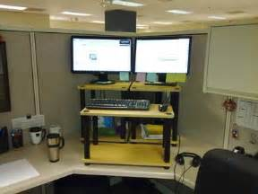 convert cubicle to standing desk stand up desk in cubicle space crafty wish list