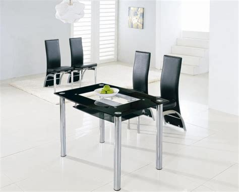 Tiny Dining Tables 39 Modern Glass Dining Room Table Ideas