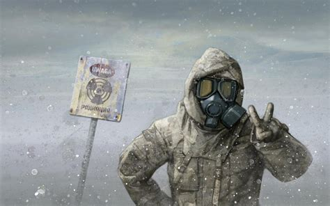 nuclear radiation mask hd wallpaper