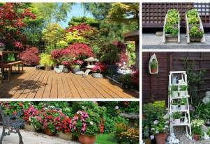 Small Potted Deck Plants 35 Patio Potted Plant And Flower Ideas Creative And