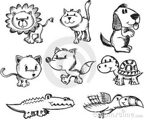 doodle animal drawings animal doodle search