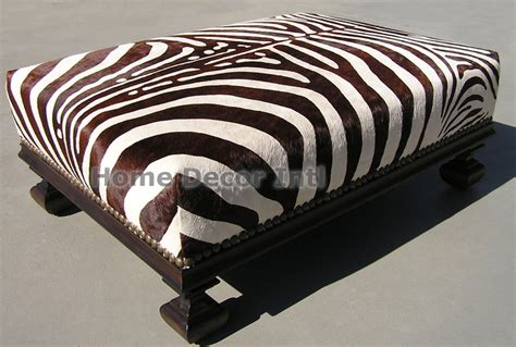 brown zebra ottoman 1000 images about cowhide ottomans on pinterest cowhide