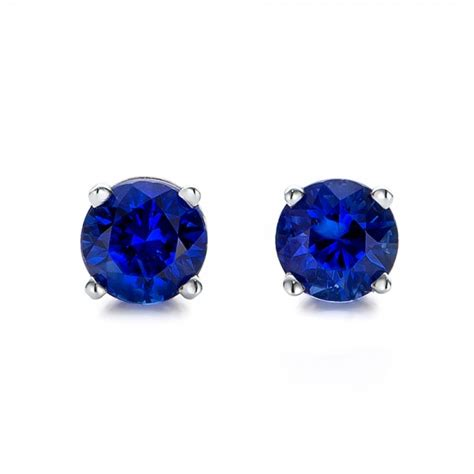 Blue Earring blue sapphire stud earrings 100955 bellevue seattle