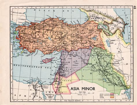 asia minor map items similar to 1930s asia minor map showing syria iraq modern turkey map travel decor