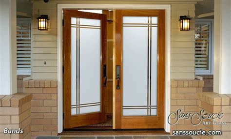 door designs dands bandsetched glass front doors modern style