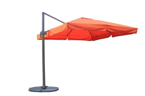 Square Offset Patio Umbrella Kontiki Shade Cooling Offset Patio Umbrellas 10 Ft Square Offset Roma Umbrella Terracotta