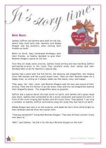 Free short story best mum saffron birthday
