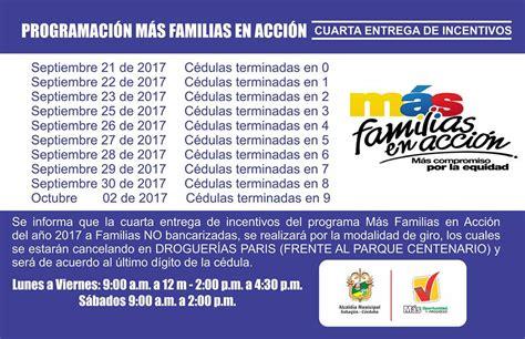 pagos familias en accion en villavicencio 2016 pagos de familias en accion agosto del 2016 pagos de mas